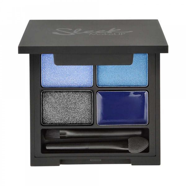 Kit Farduri si Tus de Ochi SLEEK MakeUP i-Quad Eyeshadow Eyeliner Limited Edition - Midnight Blues, 3g
