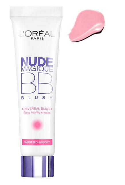 Fard de obraz iluminator L OREAL Nude Magique BB Blush - Universal Rosy, 15ml