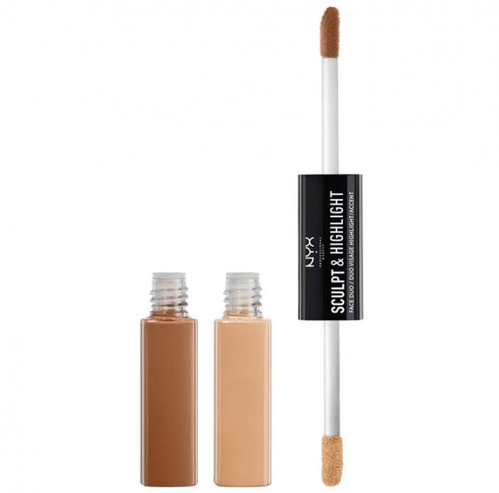 Contur Ten Nyx Professional Makeup Sculpt Highlight Face Duo Almond Light 2 X 5.3 Ml