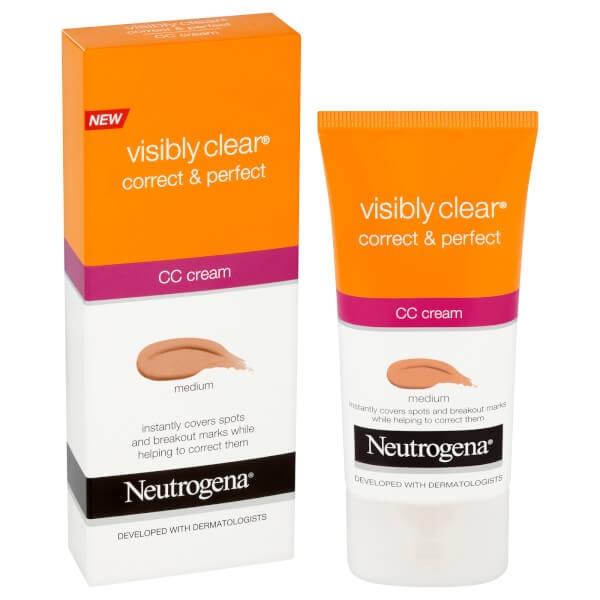 CC Cream Neutogena Visibly Clear Correct Protect - Medium, 50 ml