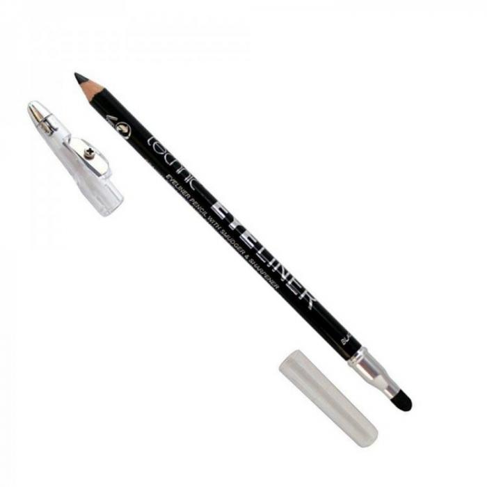 Creion De Ochi Technic Eyeliner Cu Ascutitoare Si Buretel Negru
