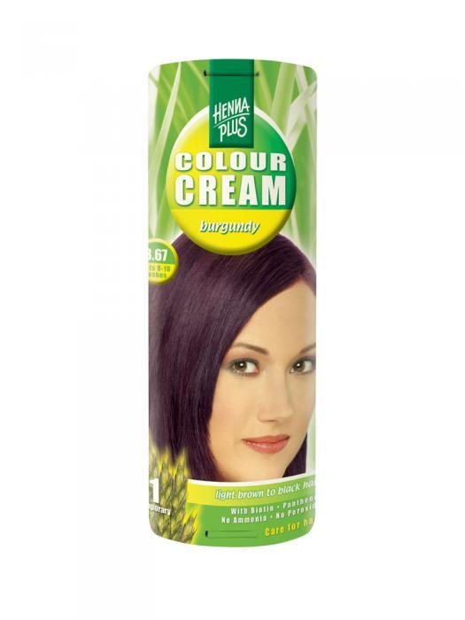 Crema Nuantatoare De Par Hennaplus Colour Cream Burgundy 3.67