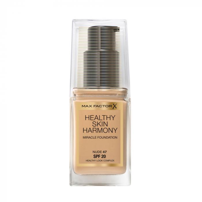 Fond de ten Max Factor Healthy Skin Harmony Miracle, 47 Nude, 30 ml
