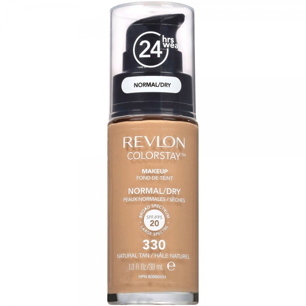 Fond De Ten Revlon Colorstay Normal Dry Skin Cu Pompita - 330 Natural Tan, 30ml