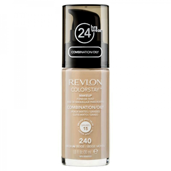 Fond De Ten Revlon Colorstay Oily Skin Cu Pompita - 240 Medium Beige, 30ml