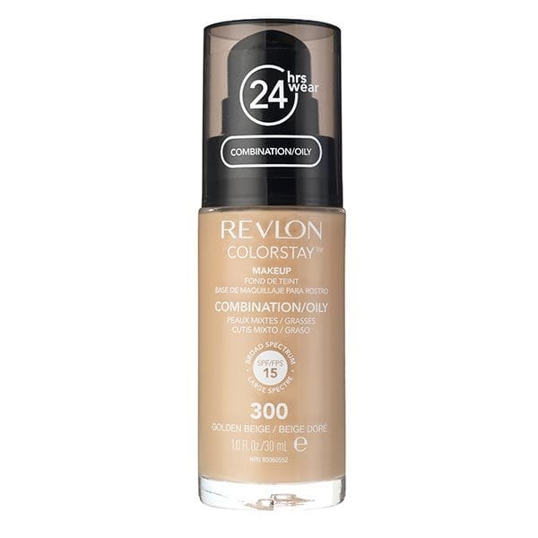 Fond De Ten Revlon Colorstay Oily Skin Cu Pompita - 300 Golden Beige, 30ml