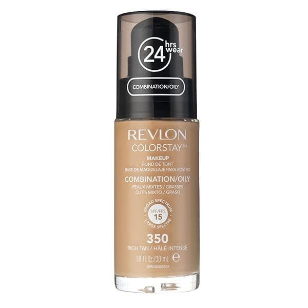 Fond De Ten Revlon Colorstay Oily Skin Cu Pompita - 350 Rich Tan, 30ml
