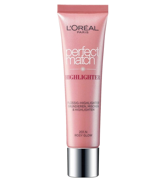 Iluminator Multifunctional L Oreal Perfect Match Highlighter - 201.n Rosy Glow, 30 Ml