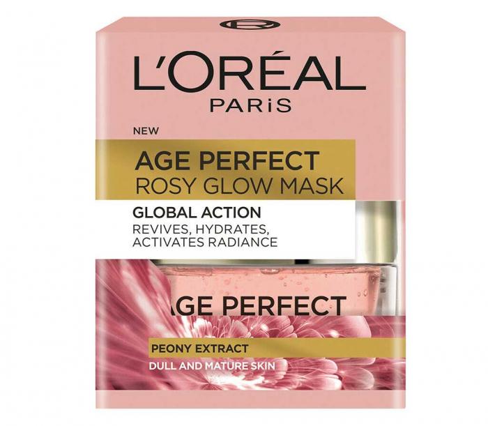 Masca Regeneranta Pentru Ten Imbatranit L Oreal Paris Age Perfect Rosy Glow 50 Ml