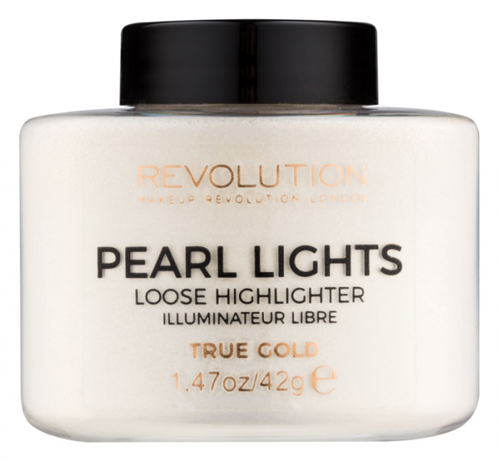 Iluminator Pulbere MAKEUP REVOLUTION Pearl Lights Loose Highlighter - True Gold, 25 g