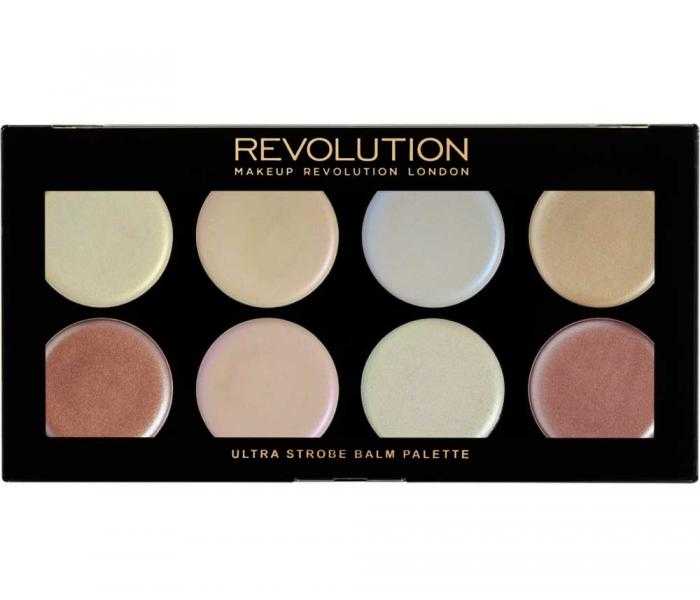 Paleta Cu 8 Iluminatoare Cremoase Makeup Revolution Ultra Strobe Balm Palette 12g