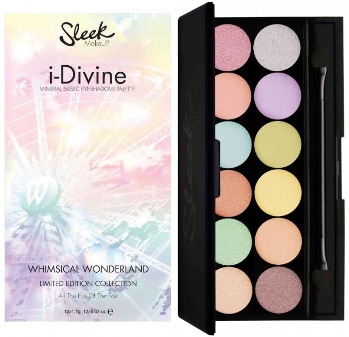 Paleta farduri SLEEK MakeUP i Divine Eyeshadow Palette Whimsical Wonderland 12×0.8 gr