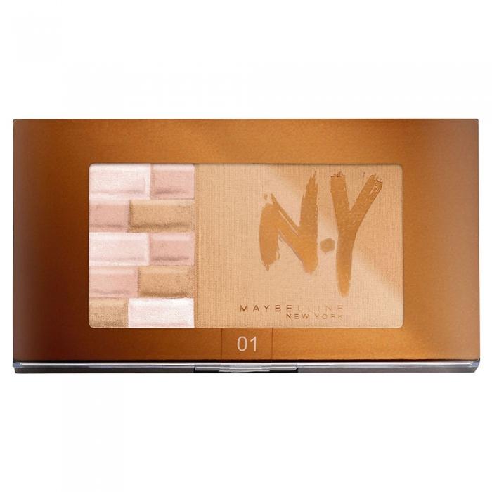 Paleta Pentru Bronz Si Iluminare Maybelline FaceStudio Bricks Bronzer 01 Blondes 7 gr