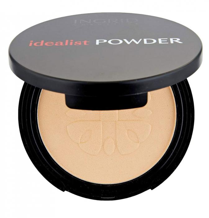 Pudra Compacta cu aspect mat Ingrid Cosmetics Idealist Powder, nr. 01, 7 g