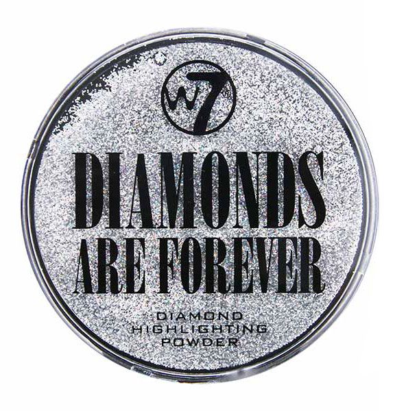 Pudra iluminatoare W7 Diamonds Are Forever Highlighting Powder, Particule Argintii
