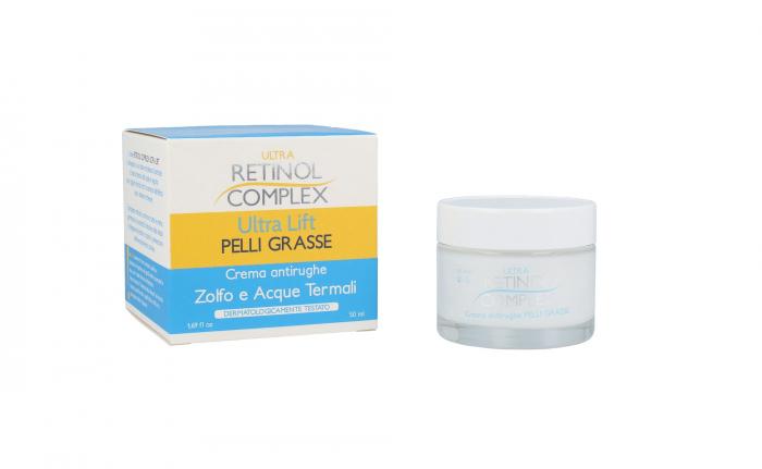 Crema Antirid Pentru Piele Grasa Cu Sulf Si Apa Termala Ultra Retinol Complex 50 Ml