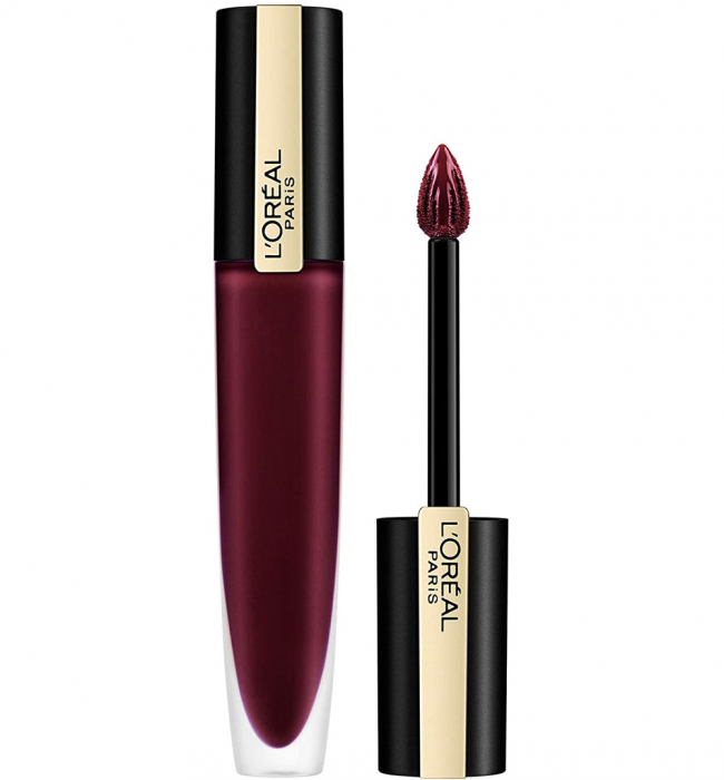 Ruj lichid mat metalizat L Oreal Paris Rouge Signature Metallics 205 I Fascinate, 7 ml