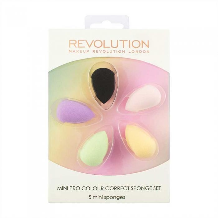 Set 5 Mini Buretei Makeup Revolution Mini Pro Colour Correct Sponge Set