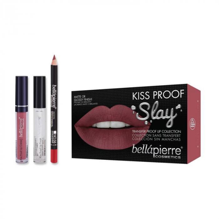 Set Rezistent La Transfer Pentru Buze Bellapierre Kiss Proof Slay Transfer Lip Collection Antique Pink
