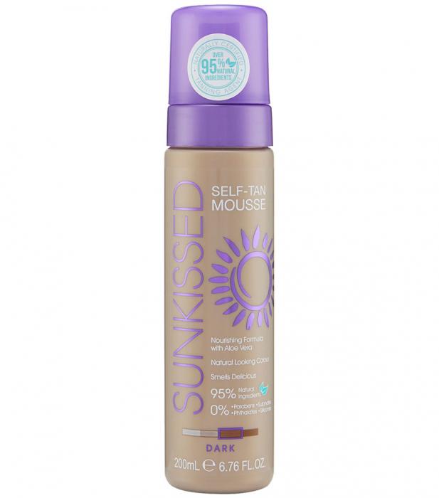 Spuma Autobronzanta Profesionala Sunkissed Self Tan Dark 95% Ingrediente Naturale 200 Ml