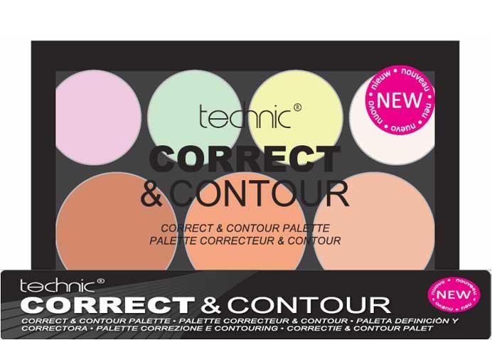 Trusa Profesionala Conturare cu 7 Corectoare TECHNIC Correct Contour