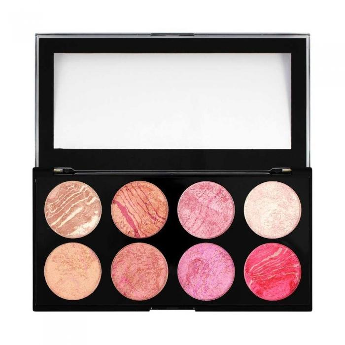 Trusa Cu 8 Blushuri Makeup Revolution Blush Palette Pentru Conturare Si Iluminare Blush Queen 13g