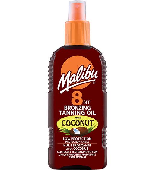 Ulei De Plaja Accelerator Malibu Bronzing Tanning Oil Cu Ulei De Cocos, Spf8, 200 Ml