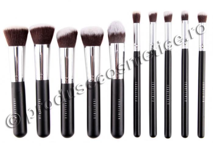 Set de 10 Pensule Profesionale FRAULEIN38 Top Quality Kabuki Black