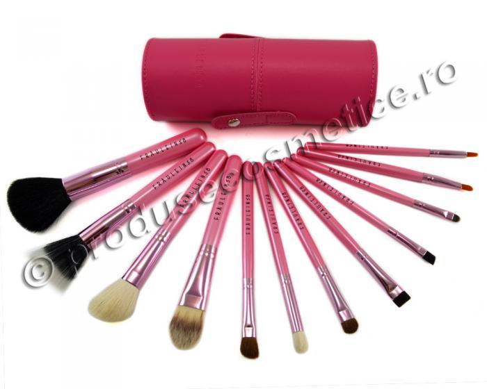 Set de 12 Pensule Profesionale Fraulein38 Pink Extravaganza