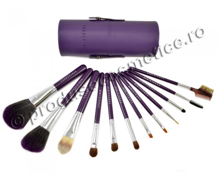 Set de 12 Pensule Profesionale Fraulein38 Purple Extravaganza