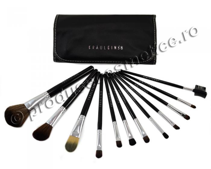 Set de 12 Pensule Profesionale Fraulein38 Studio Black