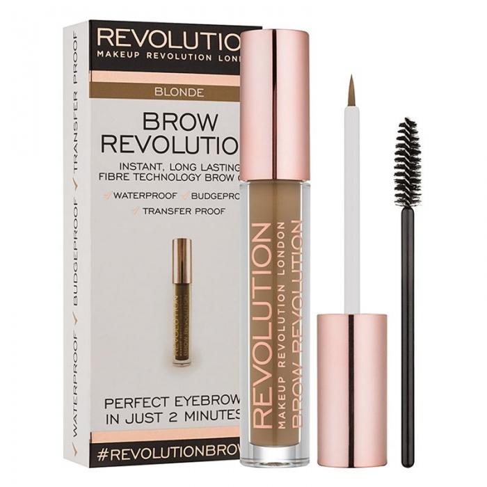 Gel Pentru Definirea Sprancenelor Makeup Revolution Brow Revolution Blonde 3.8 gr