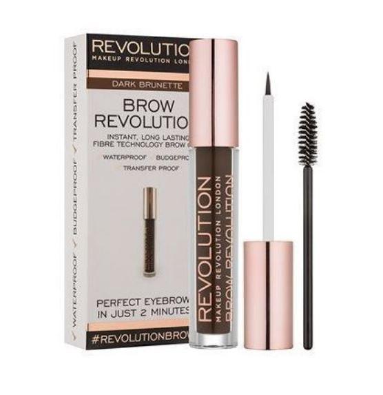 Gel Pentru Definirea Sprancenelor Makeup Revolution Brow Revolution Dark Brunette 3.8 gr