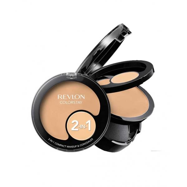 Kit Cu Fond De Ten Si Corector Revlon Colorstay 2 In 1 Compact Makeup 150 Buff 11g