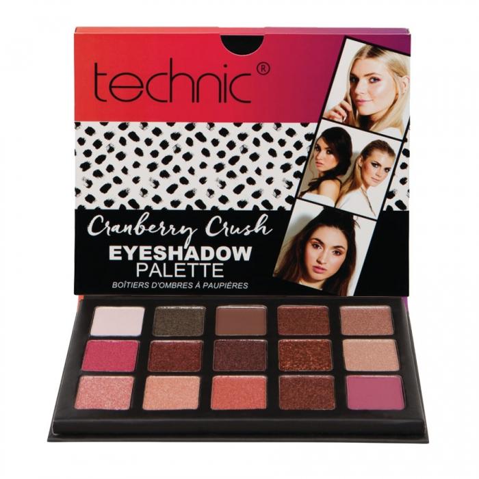 Paleta 15 Farduri Technic The Maine Edition Cranberry Crush Eyeshadow Palette