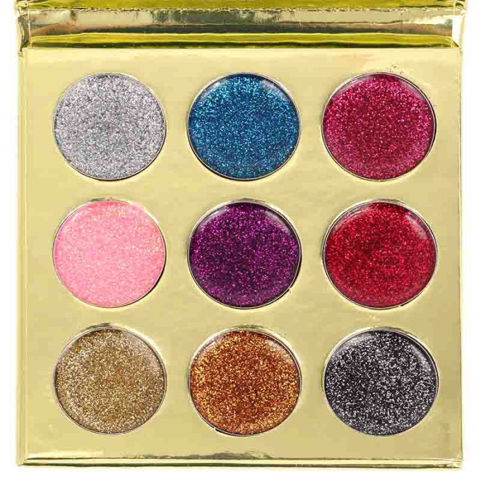 Paleta cu 9 Glittere Pro Makeup Glitter Royal Shimmer