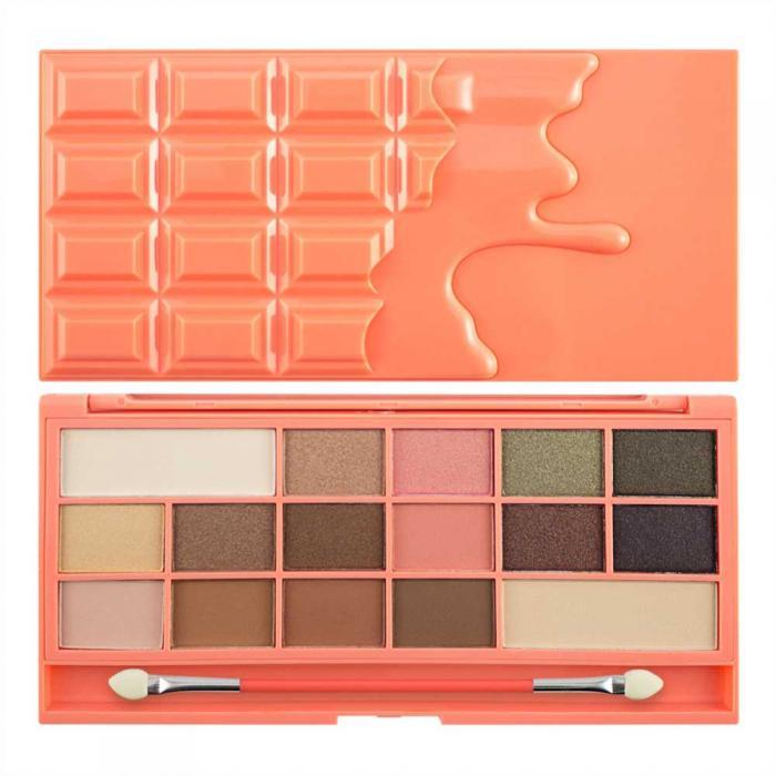 Paleta de Farduri MAKEUP REVOLUTION I Heart Makeup I Love Chocolate Chocolate and Peaches