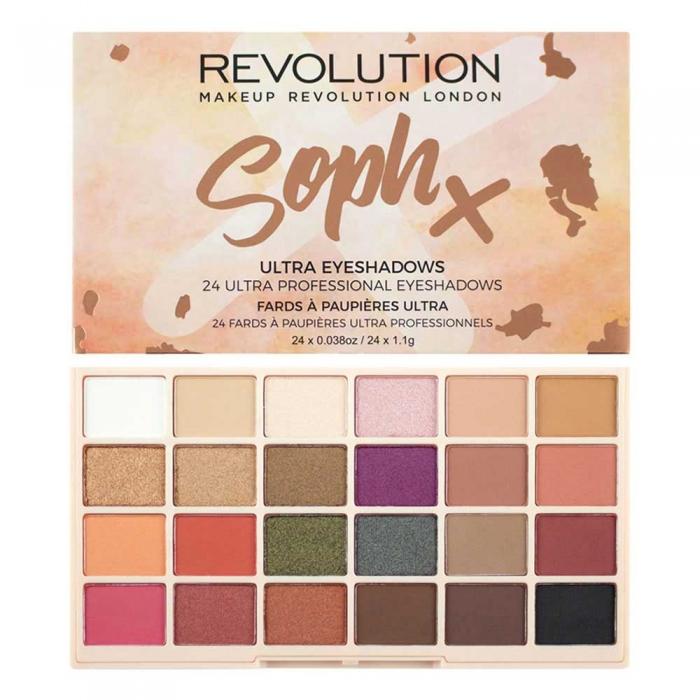 Paleta de farduri Makeup Revolution Soph X Eyeshadow Palette 24 Nuante