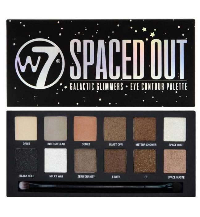 Paleta farduri W7 Spaced Out Galactic Glimmers Eye Contour Palette 12 culori 9.6g