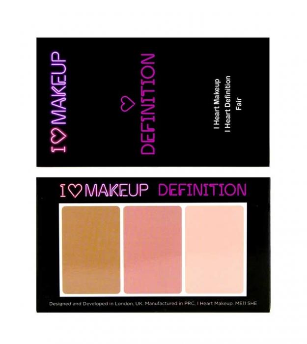 Paleta Profesionala pentru Conturare si Iluminare I Heart Makeup Fair 11g