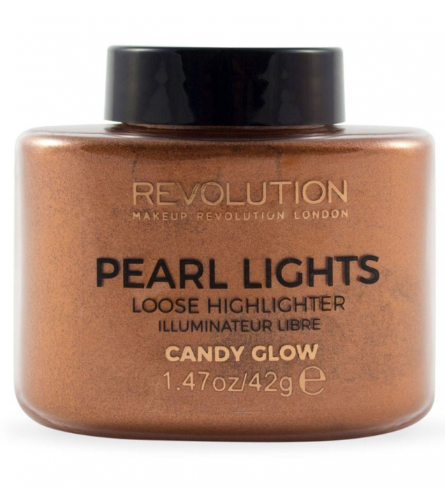 Iluminator Pulbere MAKEUP REVOLUTION Pearl Lights Loose Highlighter Candy Glow 42g