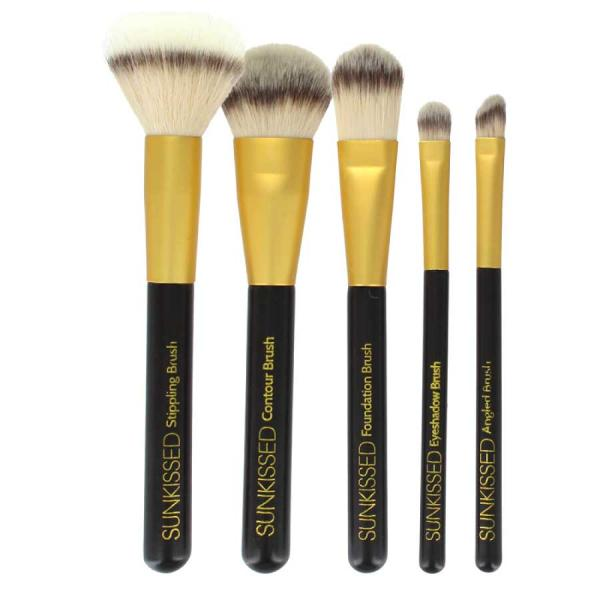 Set 5 Pensule Pentru Conturare Si Blending Sunkissed The Perfect Contour 5pc Make Up Brush Set