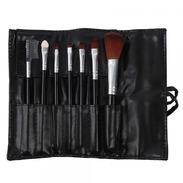 Set 7 Pensule Profesionale Luxury pentru Machiaj Carbon Black