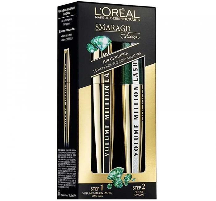 Imagine Set Cadou L Oreal Million Lashes Smaragd Edition Mascara Set 2 X 9 Ml