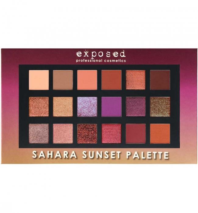 Paleta profesionala EXPOSED Sahara Sunset Palette 18 Farduri