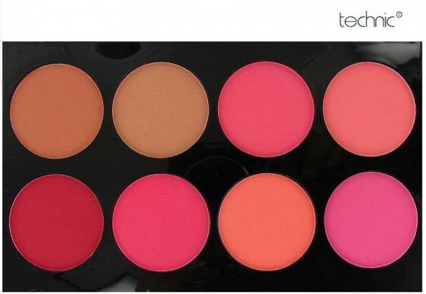 Trusa Cu 8 Blushuri in Nuante Mate pentru Conturare TECHNIC Colour Fix Blush Palette
