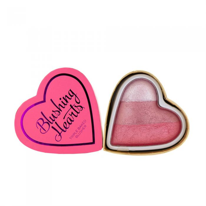 Blush Iluminator Makeup Revolution I Heart Makeup Blushing Hearts Bursting With Love 10g