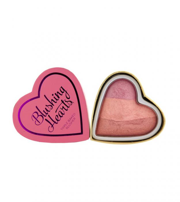 Blush Iluminator Makeup Revolution I Heart Makeup Blushing Hearts Candy Queen of Hearts 10g