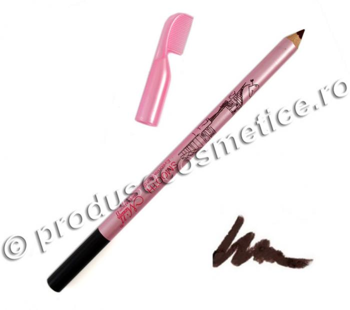 Creion de Sprancene Rezistent la transfer Menow cu pieptene 02 Maro