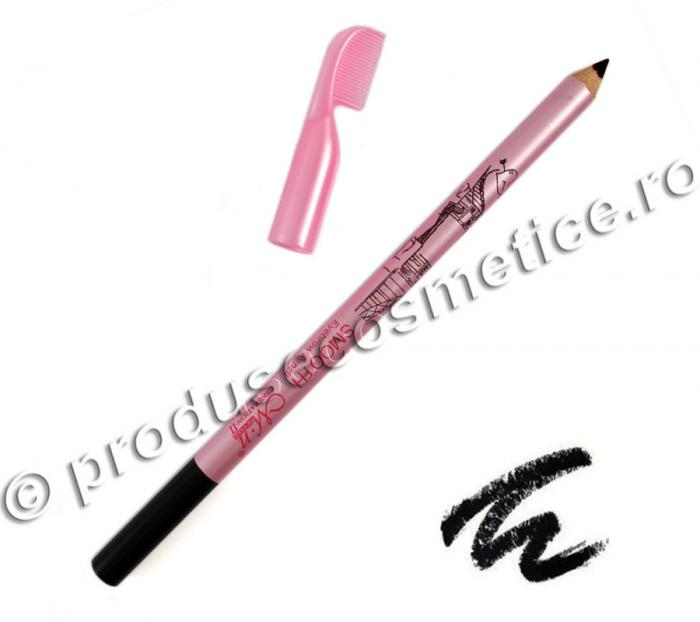 Creion de Sprancene Rezistent la transfer Menow cu pieptene 01 Negru